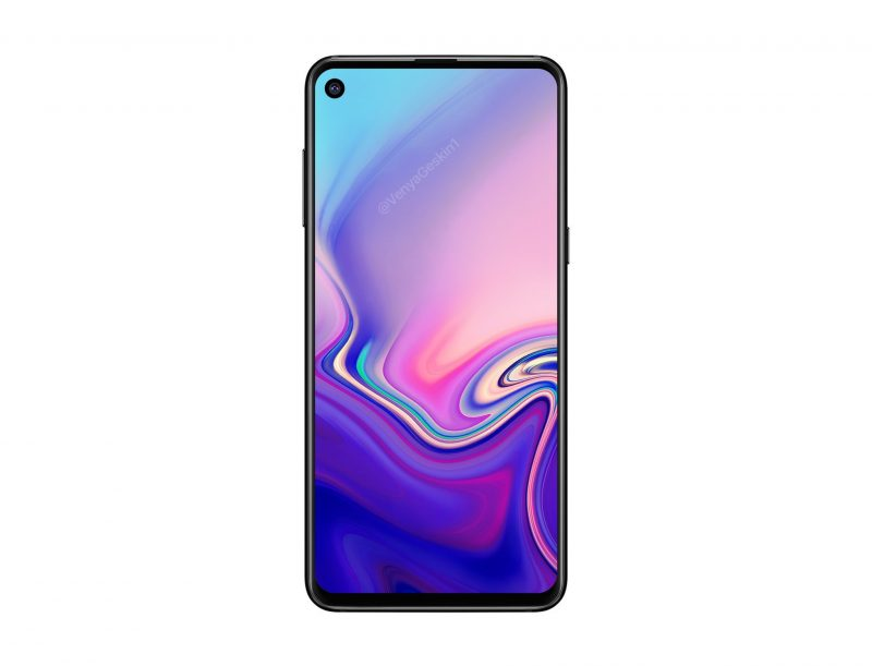 Samsung Galaxy A8s senza notch con foro sul display