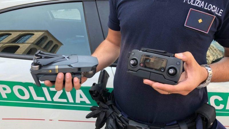 Drone polizia municiapale Palermo 2019