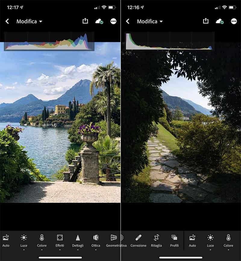Ritocco delle immagini di Giulio Riotta su iPhone