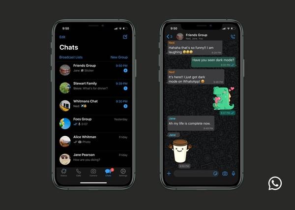 Come mettere Whatsapp nero sia Android che iOS
