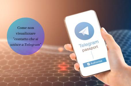 Un contatto si è unito a Telegram