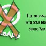 Cancellare account WhatsApp senza SIM